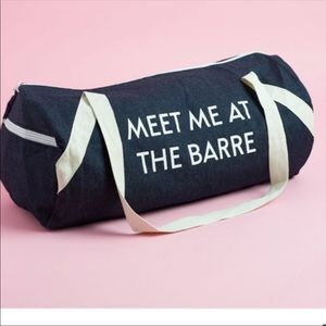 MEET ME AT THE BARRE Private Party denim wash bag
